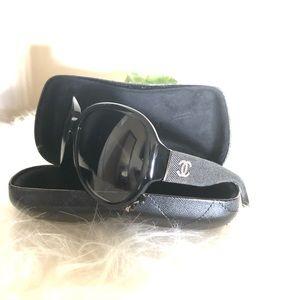 dd303f117116 Chanel 5163 Black Denim CC Sunglasses
